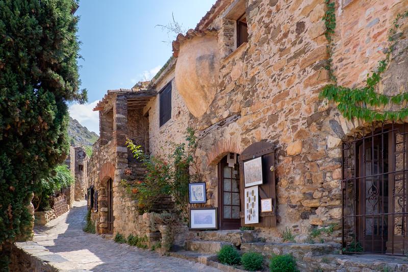 A week's holiday based at St Nazaire near Perpignan, in southern France.  Castelnou on Sunday 19 July 2015.