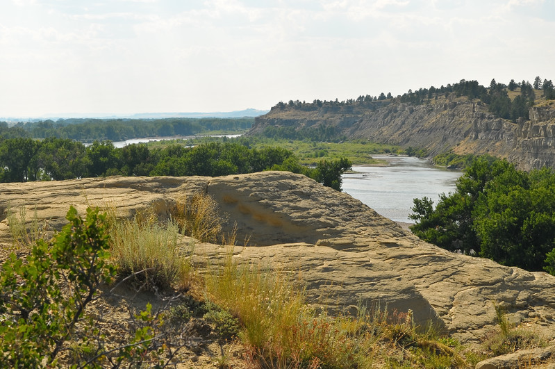 Yellowstone River from the top of Poompey's Pillar