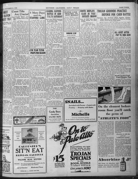 Daily Trojan, Vol. 22, No. 28, October 21, 1930