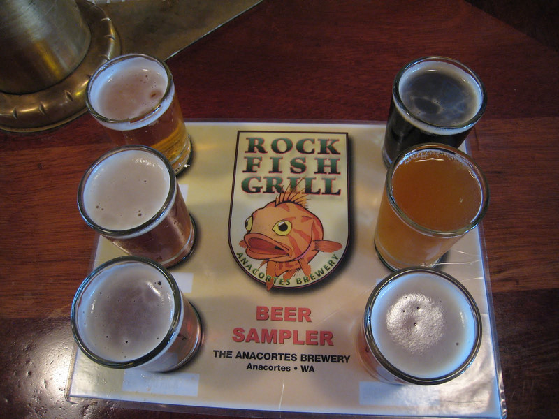 Beer sampler!  Yum!