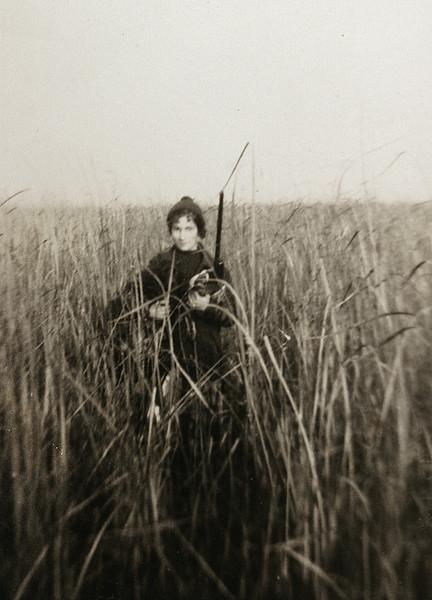 Aunt Julie Hunting Ducks.JPG