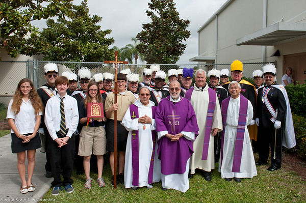 Processional Cross Donation to St Petersburg Catholic High School