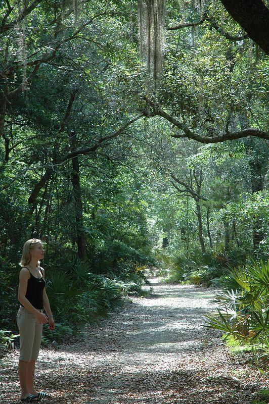 Kate on the trail at Bon Secour National Wildlife Refuge.