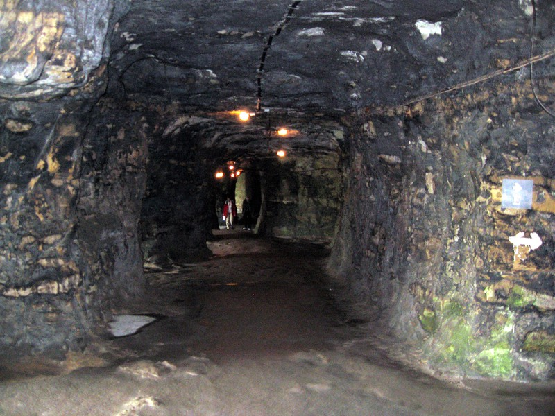 Inside of the Bock Casemates, part of 23 km of underground fortifications