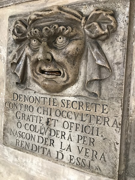 """""""Lion's Mouth"""" postbox - Doge's Palace"""