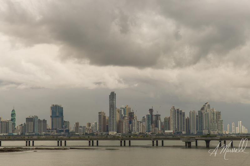 View of Panama City skyline from Casco Antiguo