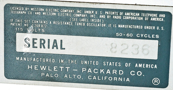 HP 200AB Oscillator