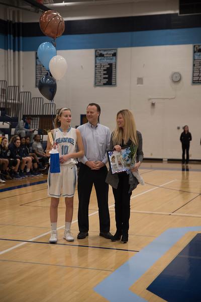 Girl's Basketball Senior Night
