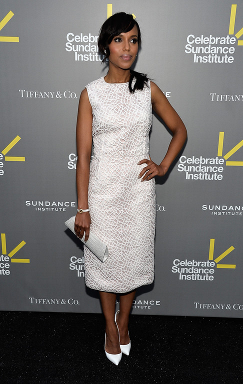 . WEST HOLLYWOOD, CA - JUNE 05:  Actress and Vanguard Award presenter Kerry Washington  attends the 2013 \'Celebrate Sundance Institute\' Los Angeles Benefit hosted by Tiffany & Co. at The Lot on June 5, 2013 in West Hollywood, California.  (Photo by Frazer Harrison/Getty Images)