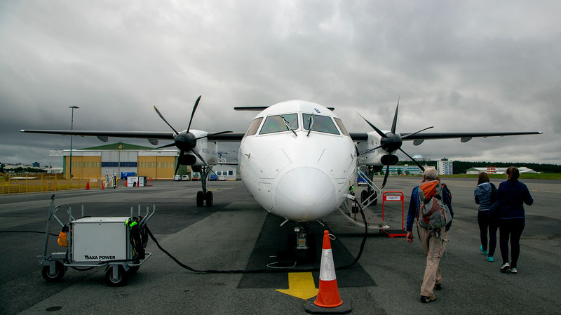 Thursday: We board our Bombardier Dash8, bound for Greenland