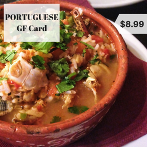 portugal gluten free restaurant card