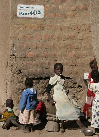 Kids on the streets of Djenne, Mali
