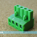SKU: AE-BLOCK/508/4, Green Connector 5.08mm Pitch L-Type Top Feed 4 Way PCB Cable Terminal Block, 4Pin Plug in Screw