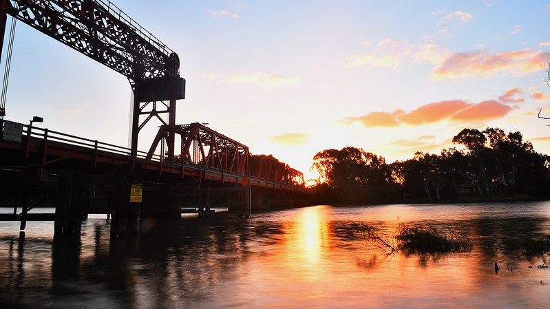 Paringa Bridge sunset