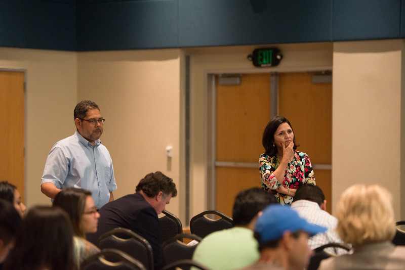 Dr. Anthony Quiroz, Professor of History at Texas A&M University-Corpus Christi(left) and Dr. Maggie Rivas-Riojas, guest speaker and Professor at University of Texas at Austin.