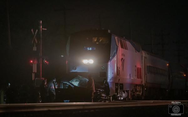 Wayne MI, Car vs. Train 11-23-2019