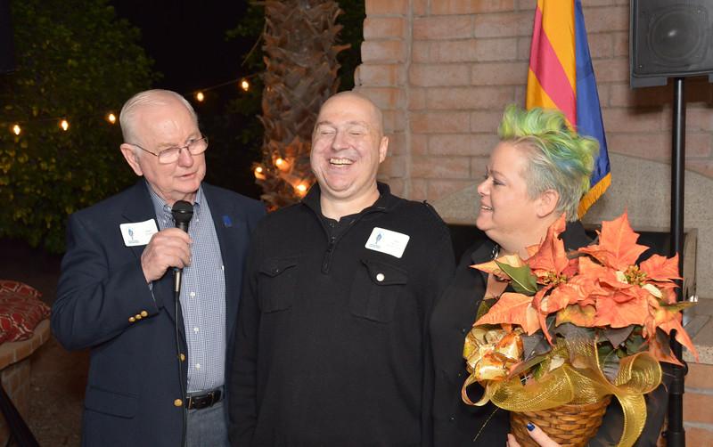 Sam Young with Matt and Annette Slaydon