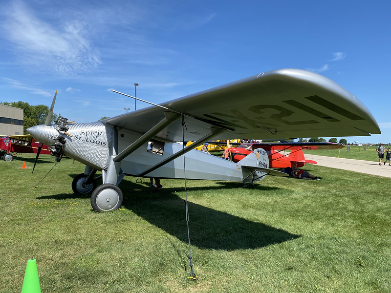 A replica of Lindbergh's plane that crossed the Atlantic nonstop in 1927