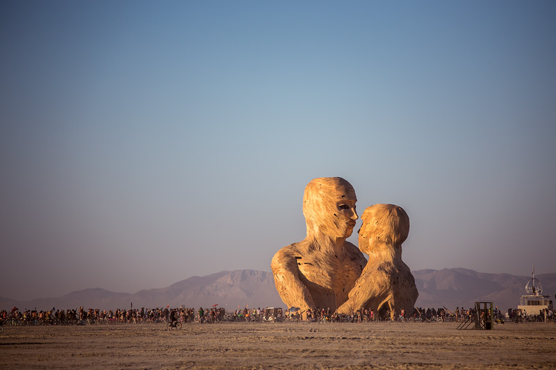 A great example of perspective showing how massive some of the art is at Burning Man