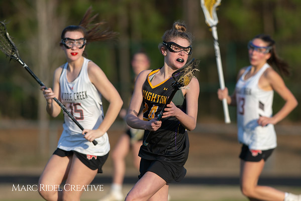Broughton Lady Caps lacrosse at Middle Creek. February 26, 2019. D4S_1845