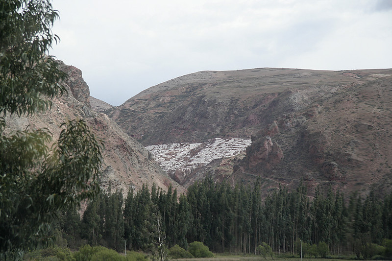 Salt mines used by the Incas for preserving meat and mummies.