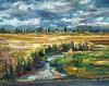 "Skagit Creek-Borcherding, 16""x20"" oil on stretched canvas"
