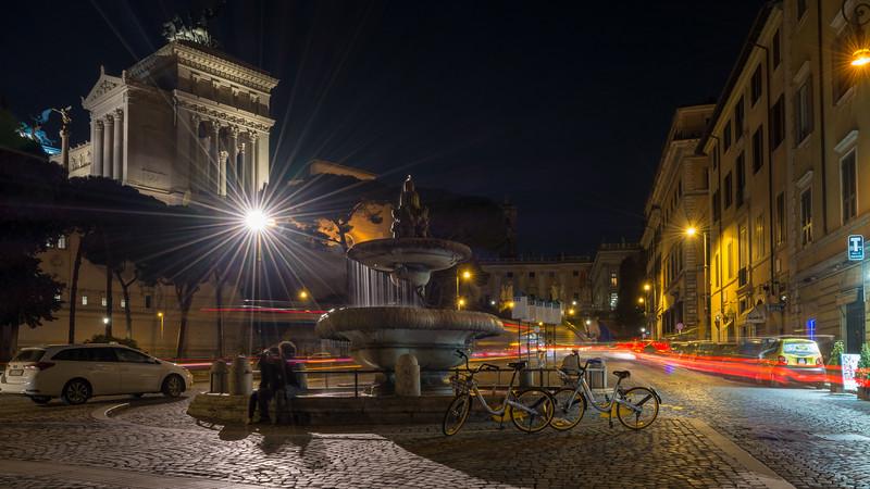 Fontana di Bacco and the Altare della Patria