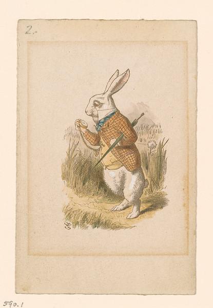 Tenniel, John, 1820-1914, White Rabbit [print], 19th century.1 print, 2005.191
