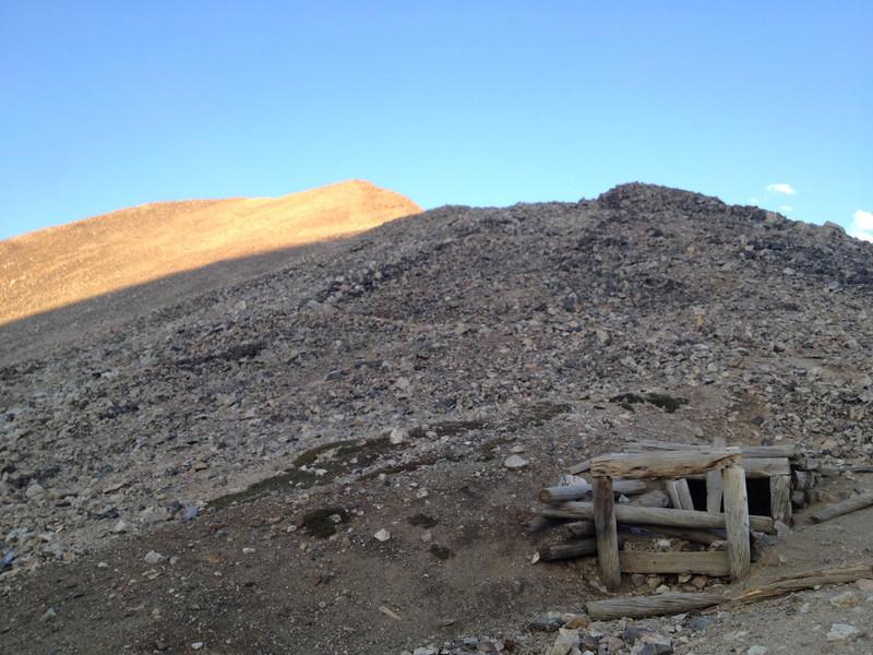Upper Democrat in sun now; lots of mining remnants in the area.