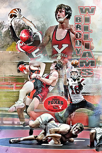2021 Brody Williams Football & Wrestling Poster