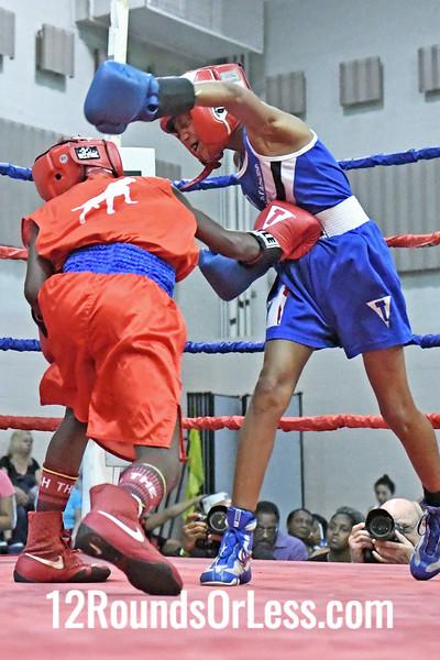 Bout #6: Nazier Tony, Red Gloves vs Soulja Cook, Blue Gloves, 1 min. rds