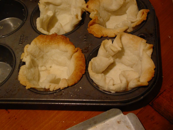 Free Form tart shells made from left over frozen pastry. Freezing really improves flavor and how they roll out.