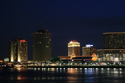 New Orleans french Quarter & Mississippi River