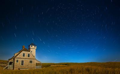 Stars Moon Night
