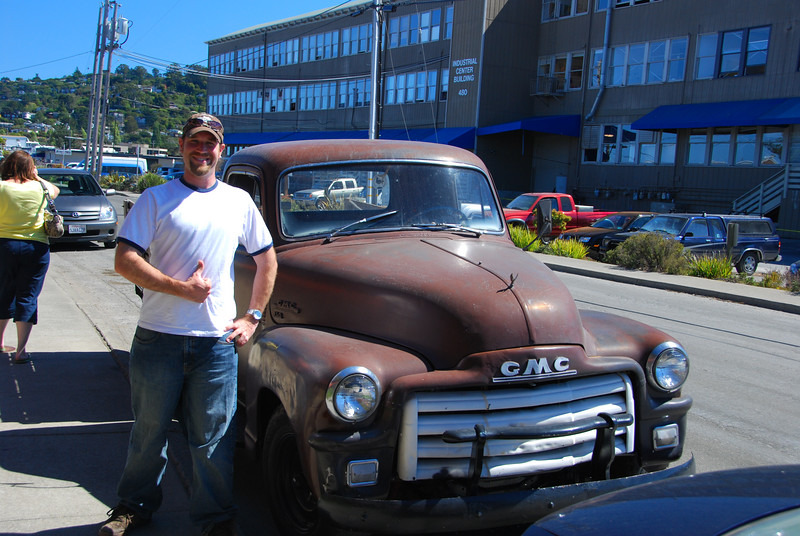 """John with an """"Old Truck"""" in Sausalito."""