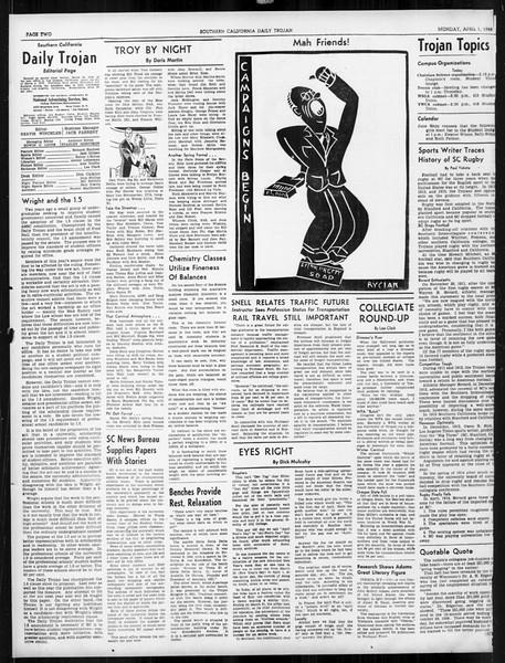 Daily Trojan, Vol. 31, No. 114, April 01, 1940