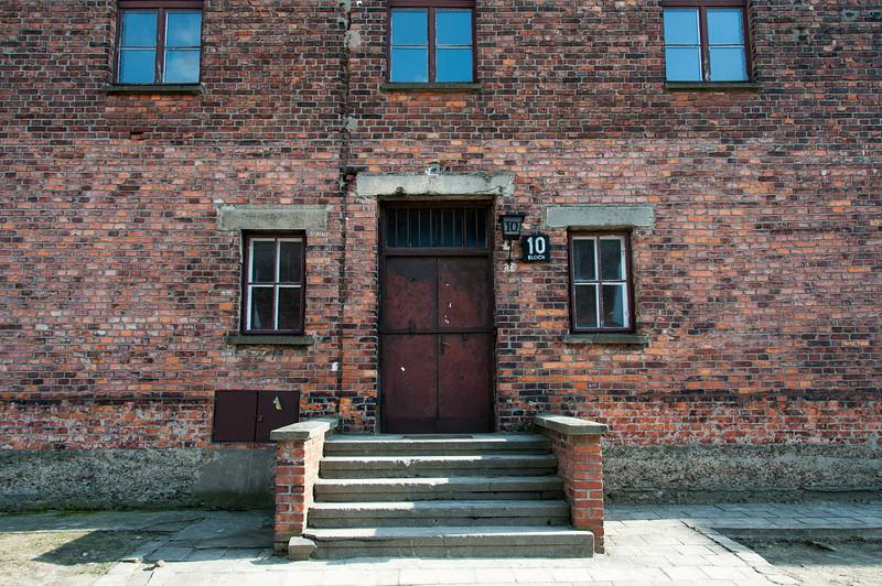 Building in Block 10 of Auschwitz Birkenau in Poland