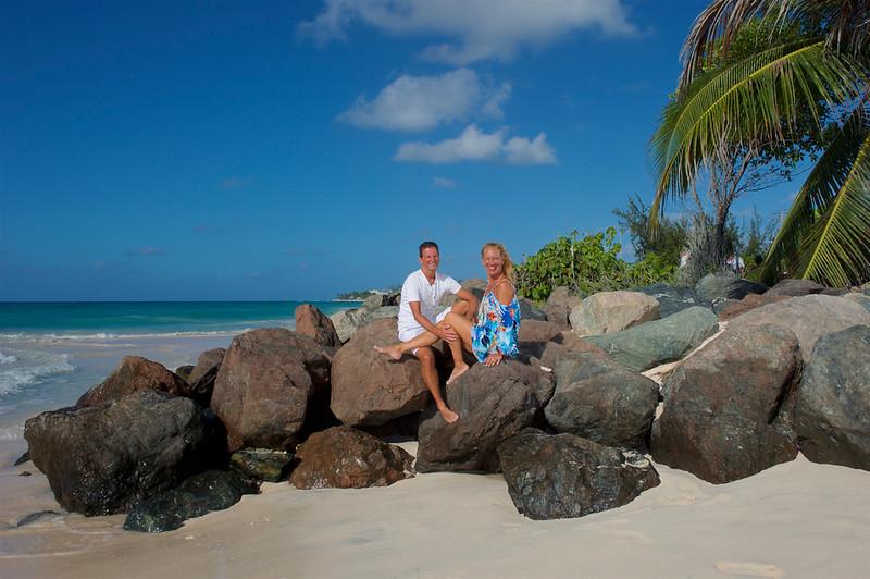Tropical beach portrait