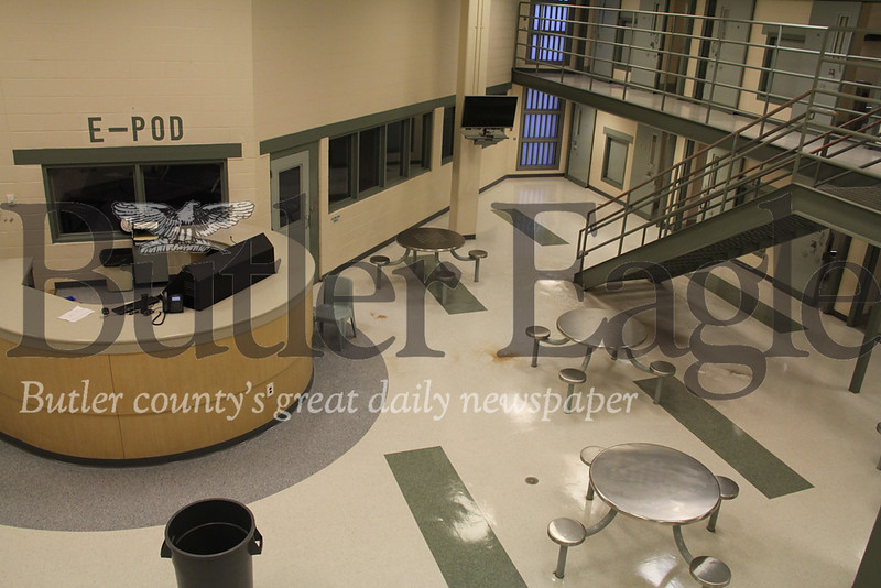 photos taken by Eric Jankiewicz. They were taken on Wednesday, Jan. 16 during  a tour of the Butler County Prison. Jail and county officials are hoping to create a revenue stream by increasing the number of out of county inmates they have.