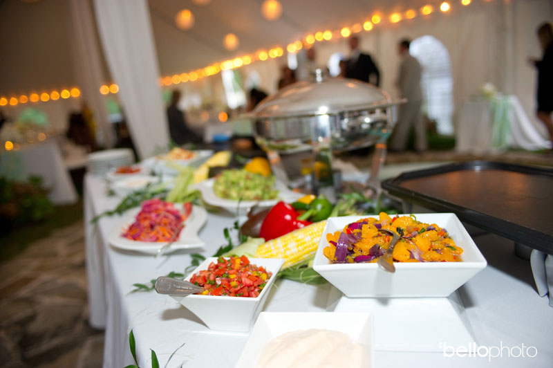 The Casual Gourmet's wedding buffett. Photo by Bello Photography - Home - The Casual Gourmet, Cape Cod Wedding Caterer