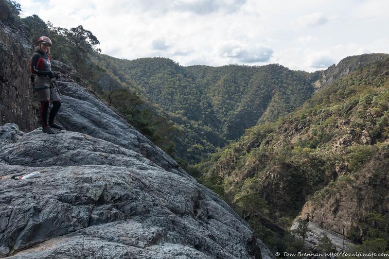 Rachel at the top of Jerrara Falls