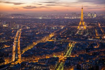 Tour Montparnasse night view