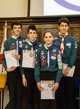 Chief Scout Gold Award Presentation - Godalming 2017
