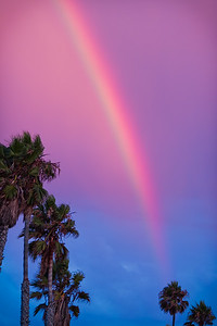 Sunset rainbow taken in Redondo Beach on 9/4/11.