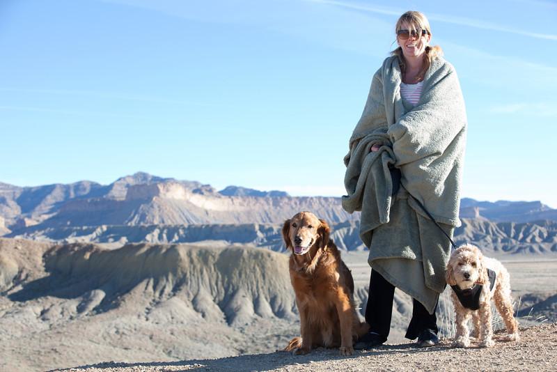 1080 Marie Indy Bodhi drive out, Utah hills.JPG