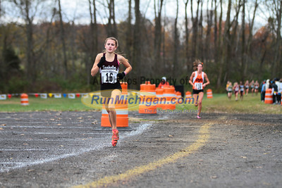 1.5 Mile Mark, D1 Girls - 2013 MHSAA LP XC Finals