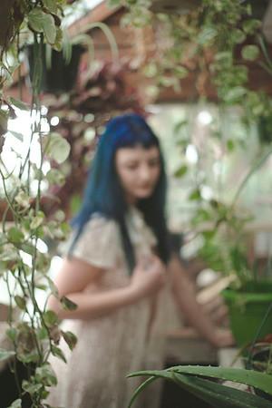 Chibi in the Greenhouse