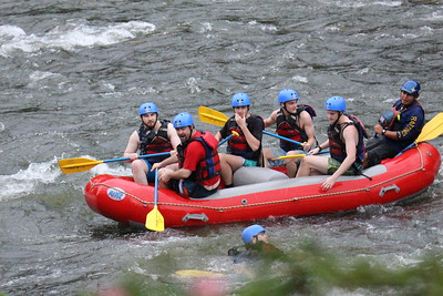 Watching Whitewater Rafting