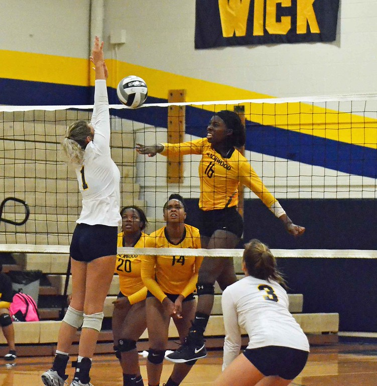 . Paul DiCicco - The News-Herald Action from Wickliffe-Beachwood volleyball Sept. 11.