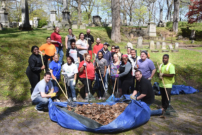Day of Caring, Mt. Hope Cemetery. 5/12/2016